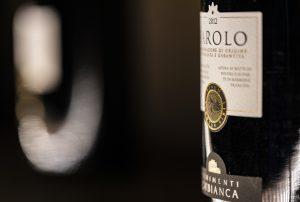 Barolo bottle profile shot