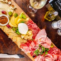 beautiful Italian cheese board and platter