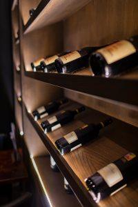 wine shelf with bottles