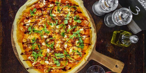 Balsamic glazed artisan pizza